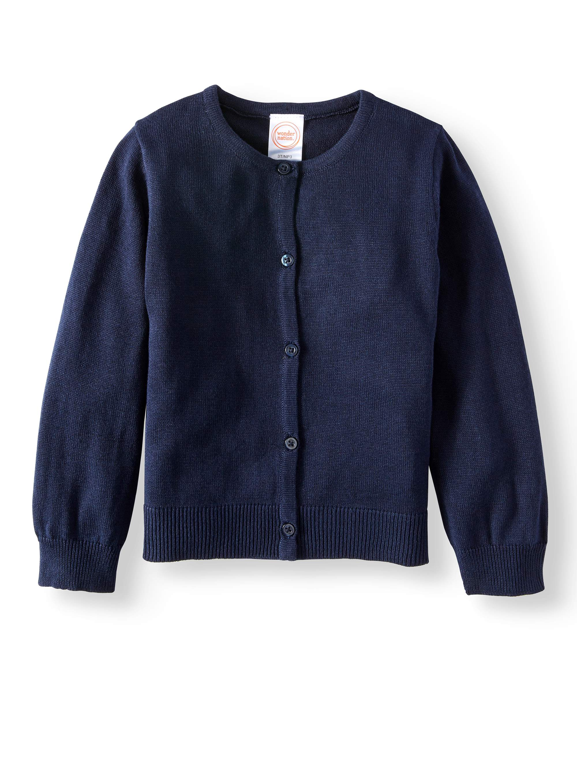 Toddler Girls School Uniform Knit Cardigan