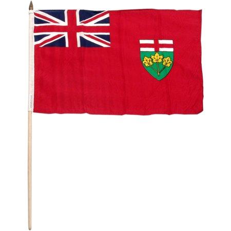 Ontario 12in x 18in Flag (Halloween Stores Ontario)