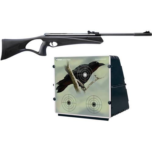 Crosman Raven .177 Caliber Youth Break Barrel Air Rifle and Metal Target Bundle
