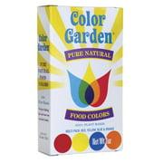 Color Garden Pure Natural Food Colors - Multi Pack 4 - 1 oz Pkts