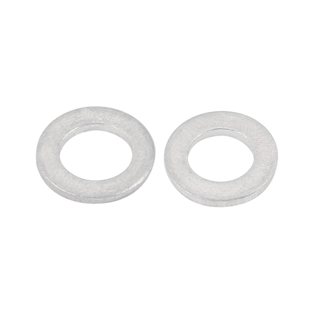 6mmx10mmx1mm Motorcycle Hardware Drain Plug Crush Aluminum Washer Seals 50pcs - image 1 de 2