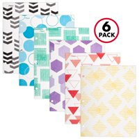 Mead Fashion 2-Pocket Paper Folder, Assorted Designs, 6 Pack (38225)