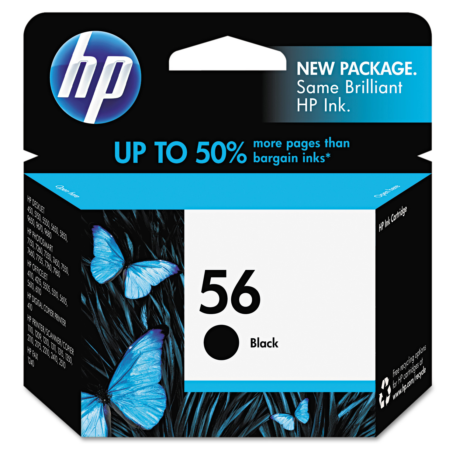 HP 56, (C6656AN) Black Original Ink Cartridge