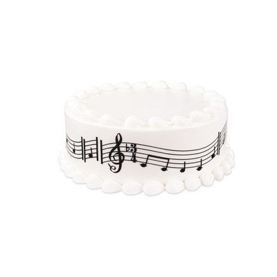 Music Notes Edible Cake Border Decoration - Music Note Decorations
