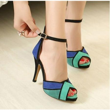 fe3f0e3ba meigar - Women Ladies Shoes High Heels Stilettos Platform Peep Toe Ankle  Strap OL Sandals - Walmart.com