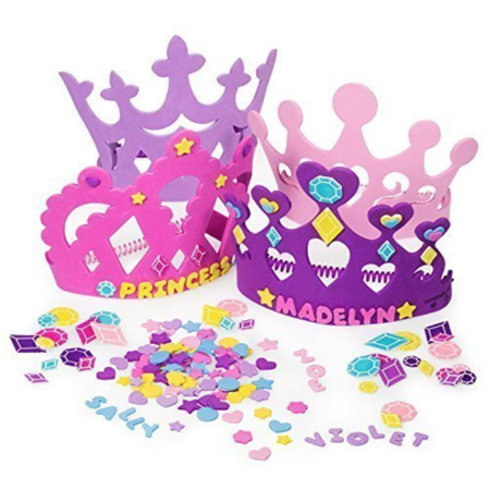 Princess Tiara Crown Craft Kits -Includes 24 Foam Tiaras + 800 Piece Craft Shapes to Decorate Crowns](Real Princess Tiaras)