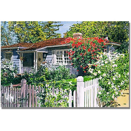 "Trademark Art ""Rose Cottage"" Canvas Wall Art by David Lloyd Glover"