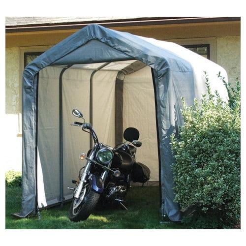 8' x 16' x 8' Peak Style Shelter, Gray by ShelterLogic