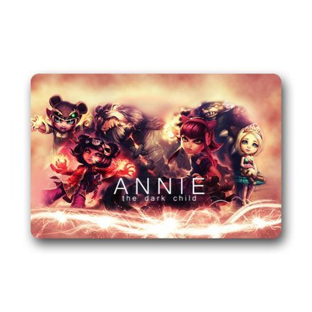 Deyou Lol Cute Loli Annie Doormat Outdoor Indoor Floor Mats Non Slip Bathroom Mats Size 23 6X15 7 Inch