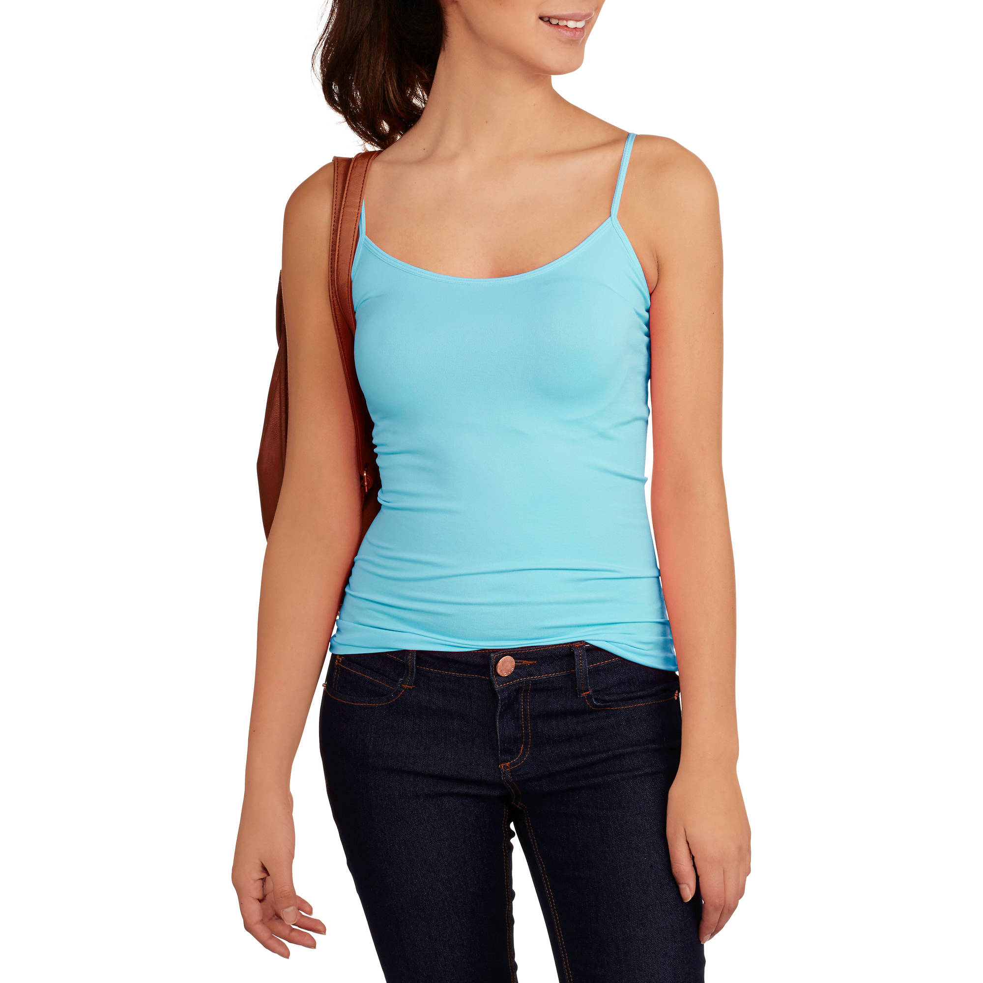 No Boundaries Juniors Seamless Cami with Adjustable Straps