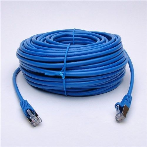 100 FT Feet Foot CAT5e CAT5 RJ45 Ethernet LAN Network Patch Cable Cord (BLUE)
