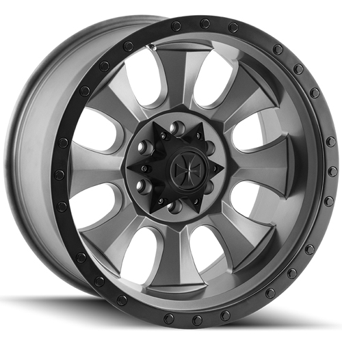 "17"" Inch Dirty Life 9300 Ironman 17x8.5 5x5.5"" -6mm Gunmetal Wheel Rim"