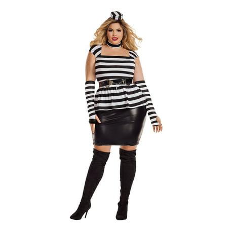 Women's Plus Size Jailbird - Jailbird Costume