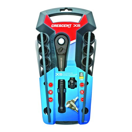 Crescent CX6PT20 20-Piece X6 Pass-Through Ratchet and Sockets