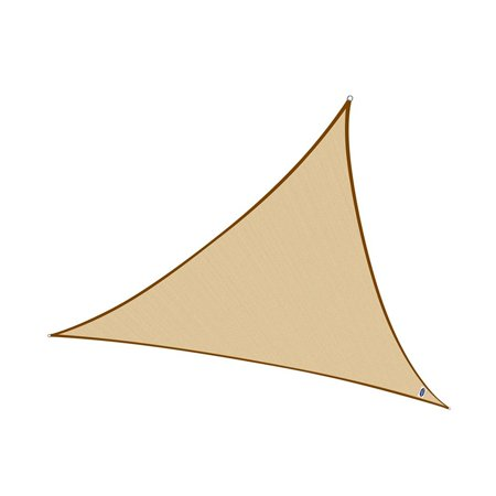 Cool Area Triangle 9 Feet 10 Inches Sun Shade Sail, UV Block Fabric Sail Perfect for Outdoor Patio Garden Swimming Pool in Color Sand