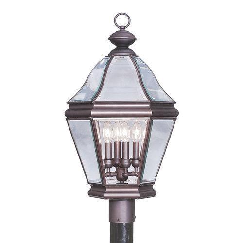 Livex Lighting  2636  Post Lights  Bradford  Outdoor Lighting  ;Bronze
