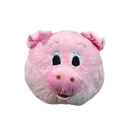 Pig Mascot Adult Full Face Animal Costume Funny Halloween Mask](Pig Masks For Kids)