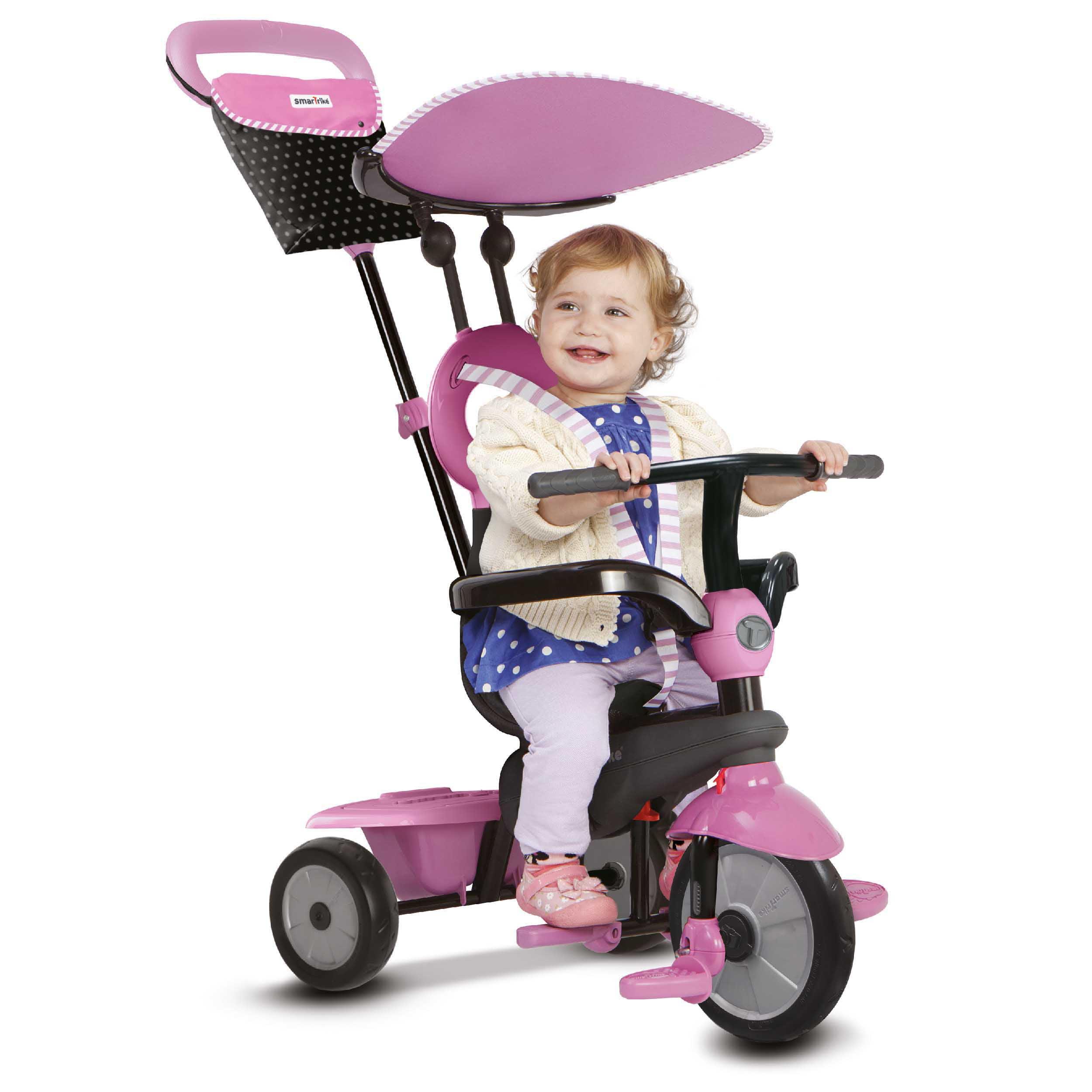 smarTrike Tricycle - Vanilla 4 in 1 Push Trike - Pink