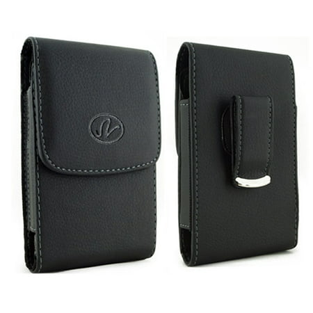 Vertical Leather Case Cover Holster With Swivel Belt Clip For  Blu Energy X 2   Fits Phone W  Single Layer Case On It