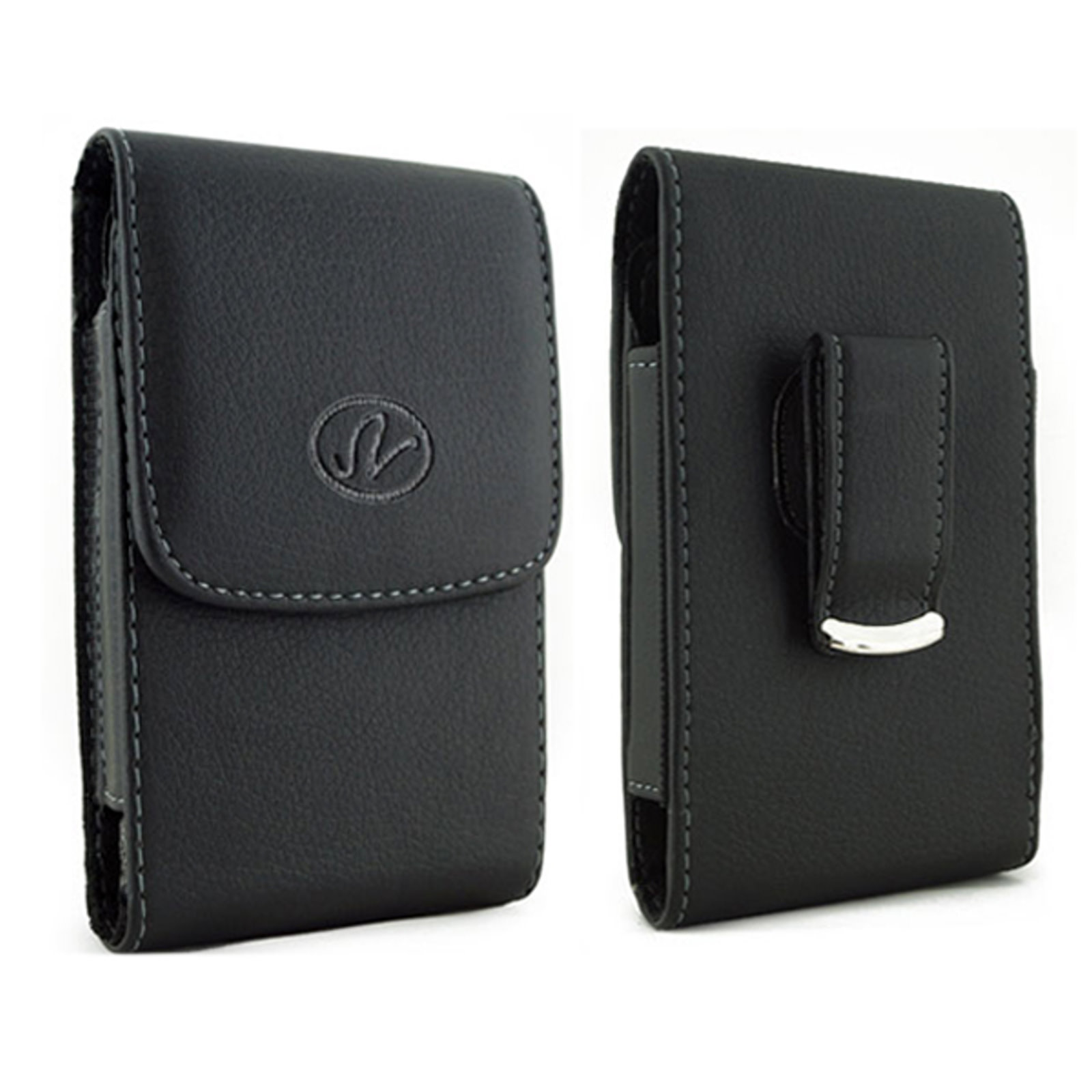 Vertical Leather Case Cover Holster with Swivel Belt Clip FOR T-Mobile LG Optimus L90 * Fits phone w/ Single Layer Case on it *