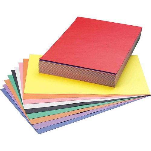 "SunWorks Groundwood Construction Paper, 12"" x 18"", 10-Color, Pack of 250"