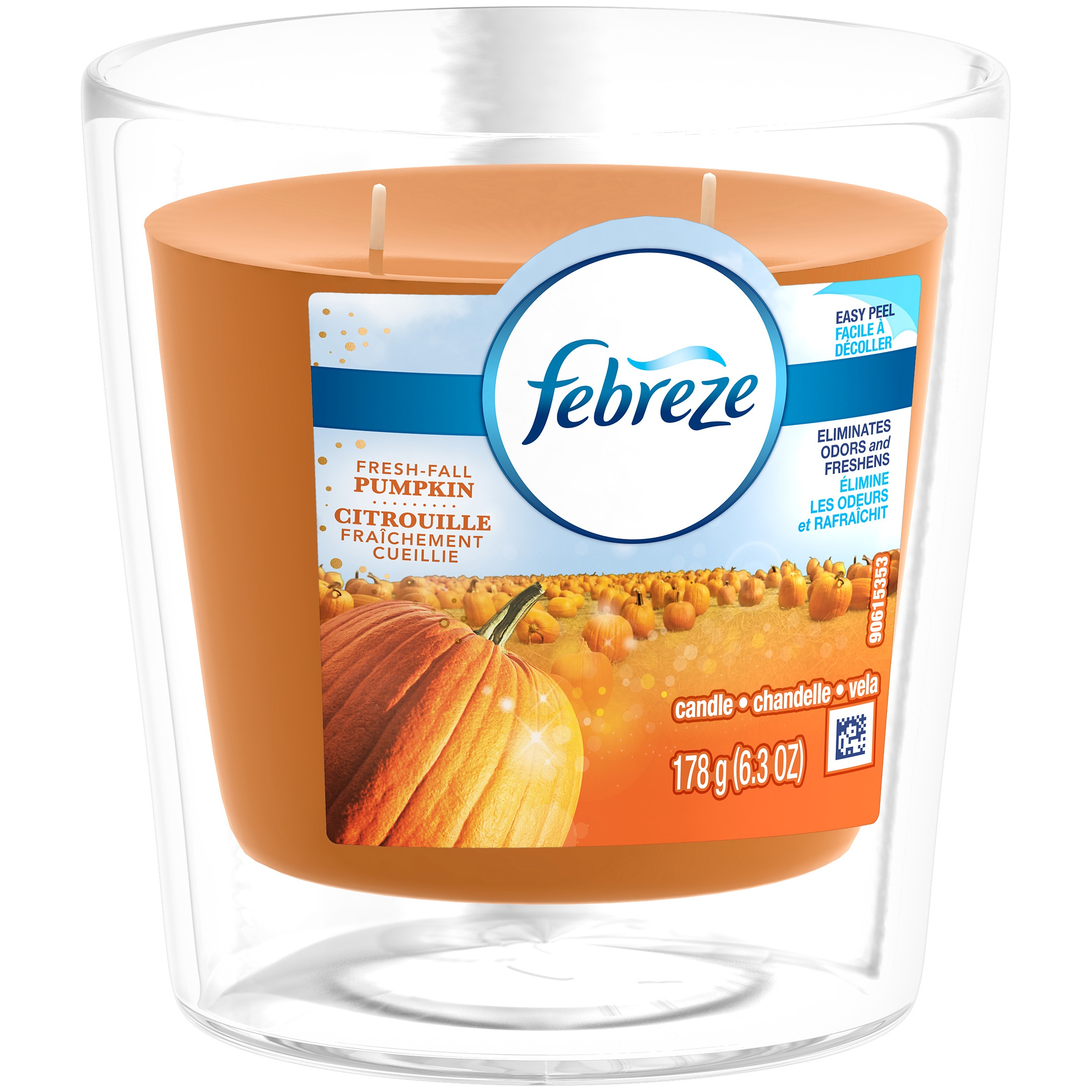 <mark>Febreze</mark> <mark>Candle</mark>, Fresh-Fall Pumpkin, 6.3 oz