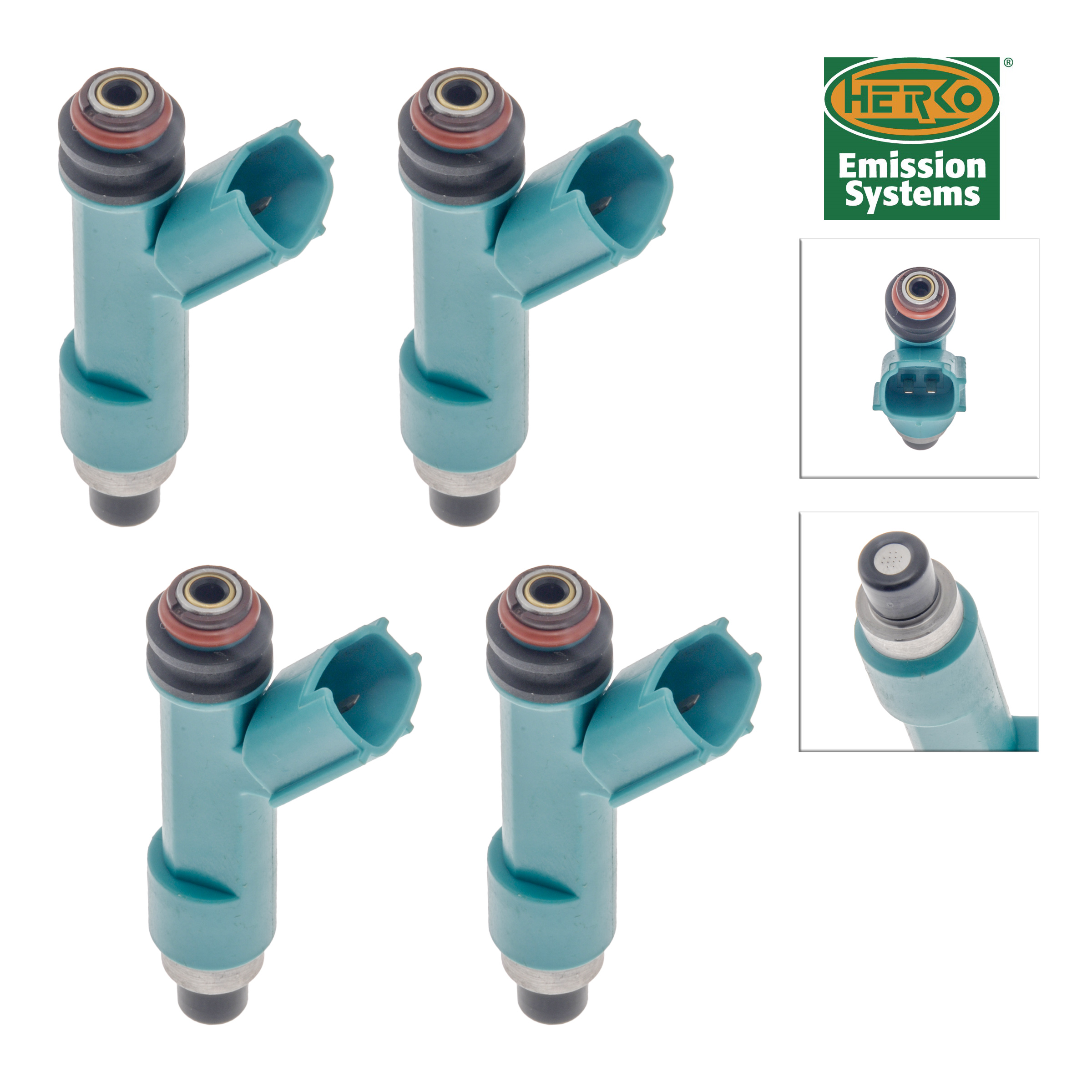Set of 4 Herko Fuel Injector INJ535 For Toyota Scion Camry Matrix Corolla 04-15