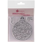 """Woodware Clear Stamps 3.5""""X3.5""""-Love Bauble"""