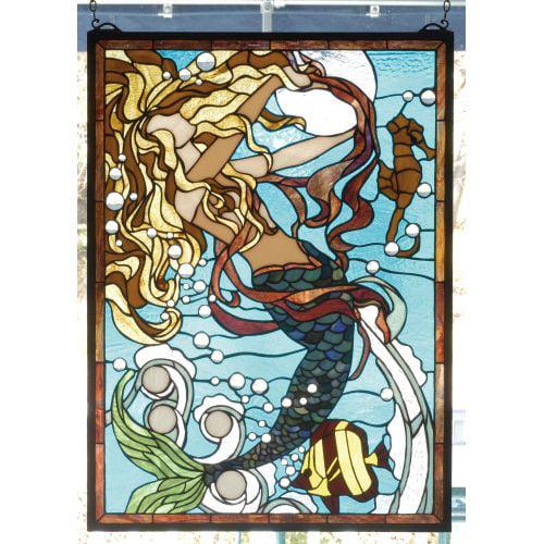 Meyda Tiffany 78086 Stained Glass Tiffany Window from the Seashore Collection by Meyda Tiffany