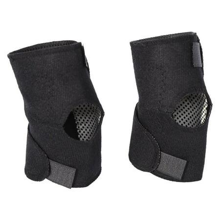 WALFRONT 1 Pair Self-heating Tourmaline Elbow Pads, Women & Men Elbow Support Brace Health Care Arthritis Protector (Black)