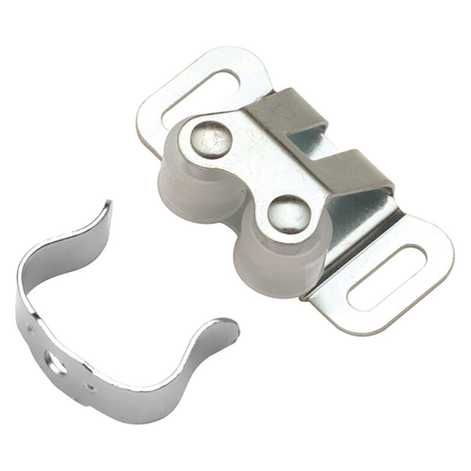 Hickory Hardware Cadmium Double Roller Catch - Set of 2