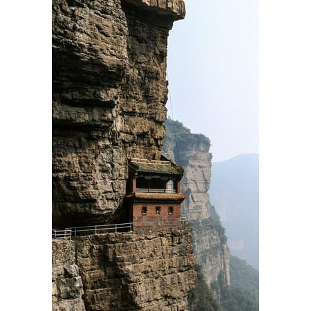 LAMINATED POSTER Rock The Taihang Mountains A Single House Ridge Poster Print 24 x 36