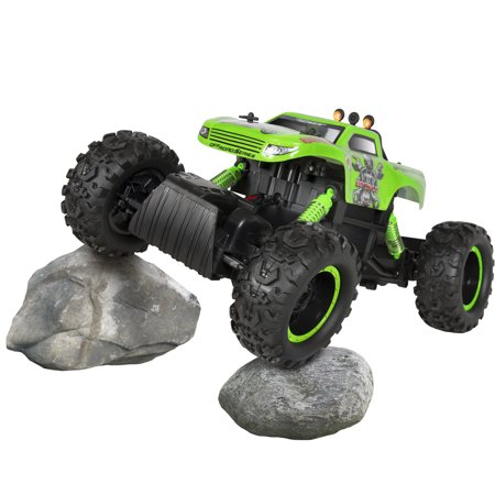 Best Choice Products Kids Rock Crawler Remote Control Monster Truck RC Toy w/ 3 Motors, 4x4 Drive, All-Terrain Tires, Rechargeable Battery - Green
