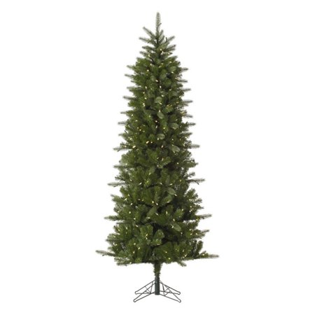 Vickerman Pre-Lit 10' Carolina Pencil Pine Artificial Christmas Tree, Spruce, LED, Warm White Lights