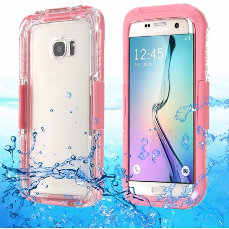 pink casefor samsung galaxy s7 edge waterproof shockproof life cover case. Black Bedroom Furniture Sets. Home Design Ideas
