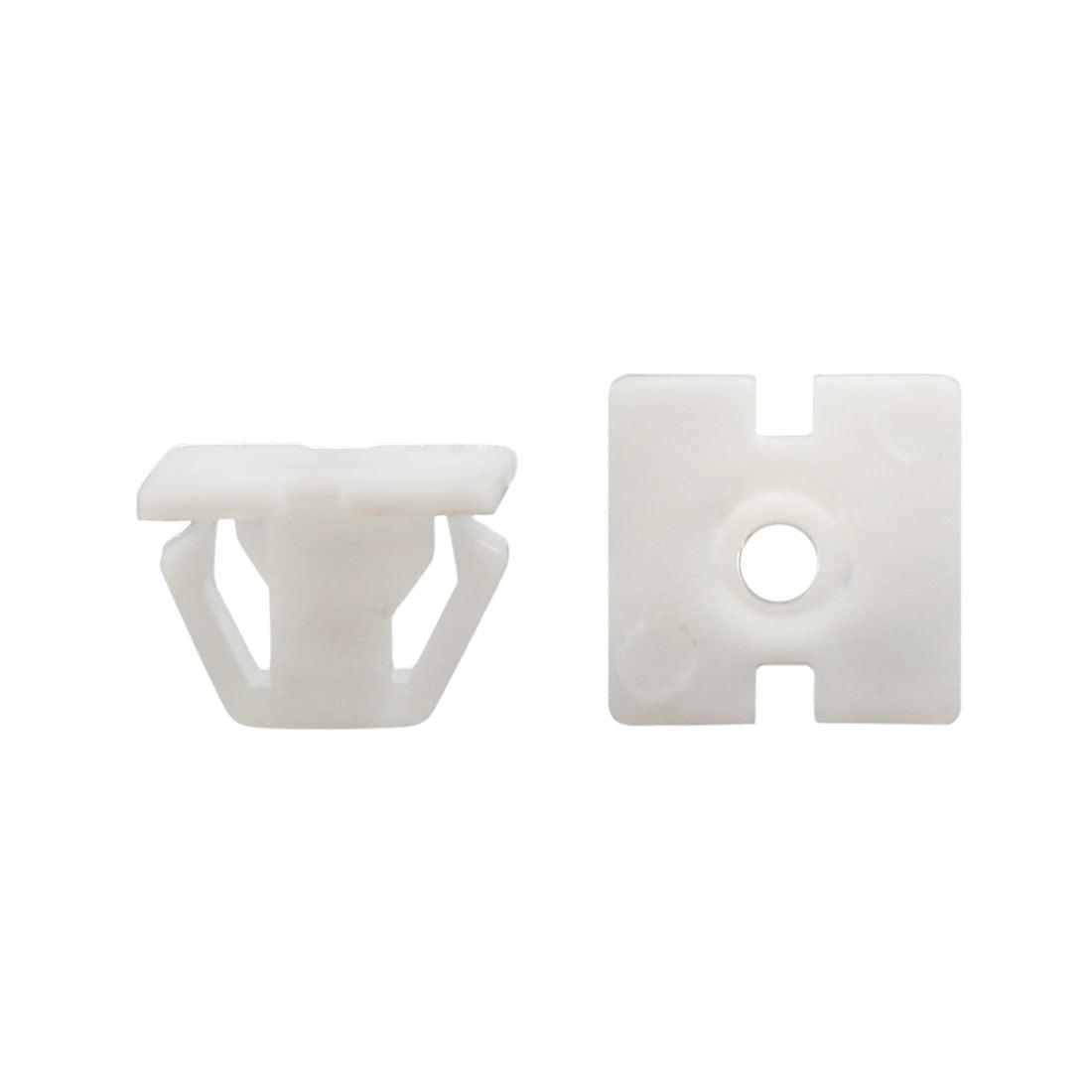 30Pcs Universal Plastic Rivet Fastener Mud Flaps Bumper Fender Clips White 13mm