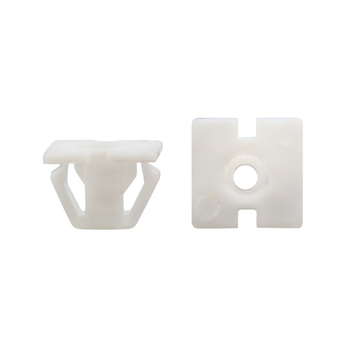 30Pcs Universal Plastic Rivet Fastener Mud Flaps Bumper Fender Clips White 13mm - image 2 of 2