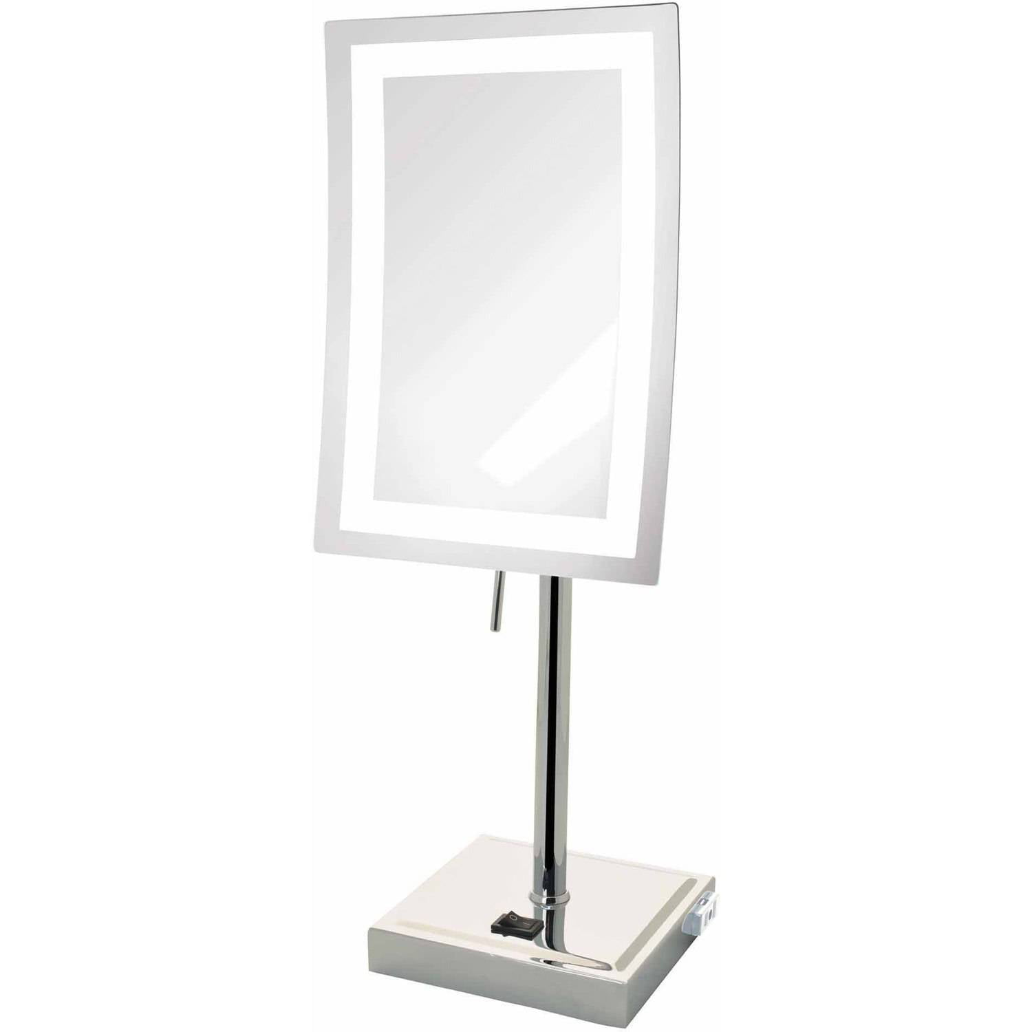 Jerdon JRT910CL Magnified Lighted Tabletop Rectangular Mirror, Chrome Finish, 67.2 oz by JERDON STYLE LLC