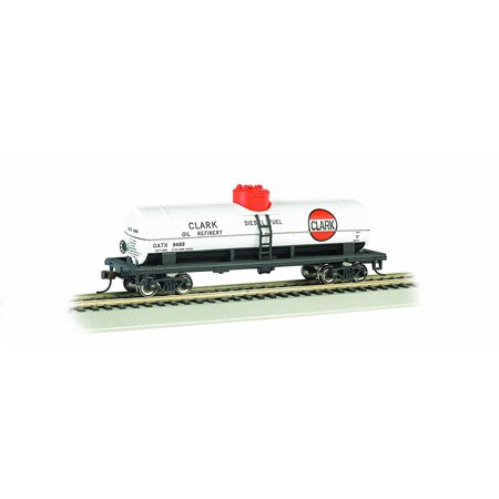 Large Scale Single Dome - Bachmann Industries Clark HO Scale 40' Single Dome Tank Car, Bachmann's Silver Series rolling stock By Bachmann Trains Ship from US