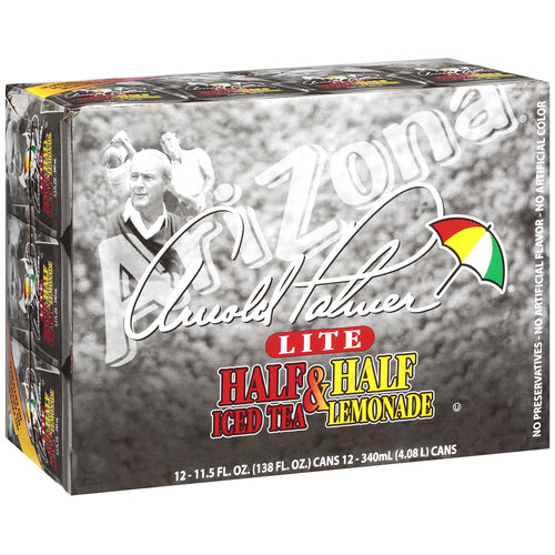 Arizona Arnold Palmer Lite Half & Half Iced Tea/Lemonade, 11.5 oz, 12ct