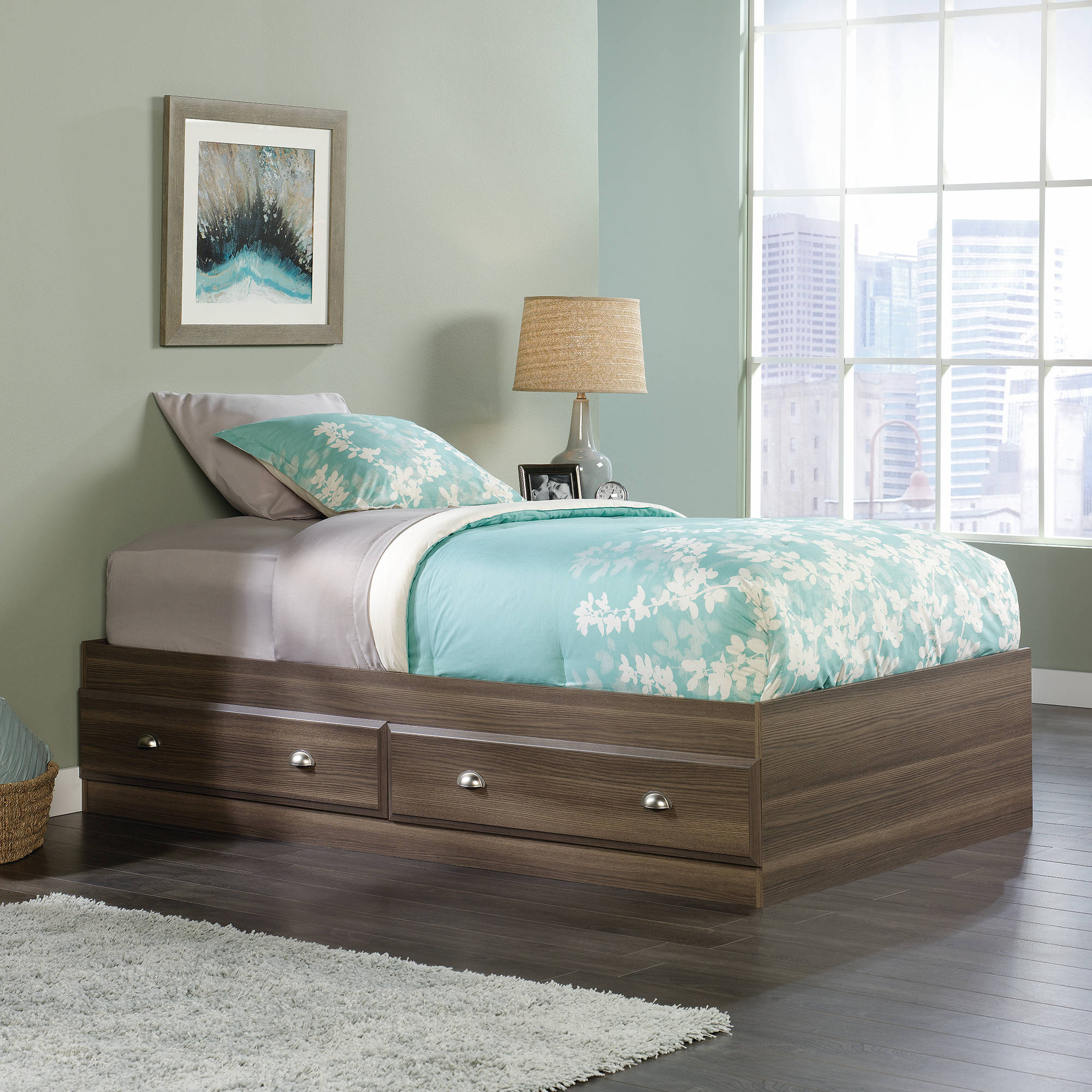 Sauder Shoal Creek Collection Mates Bed, Diamond Ash Finish