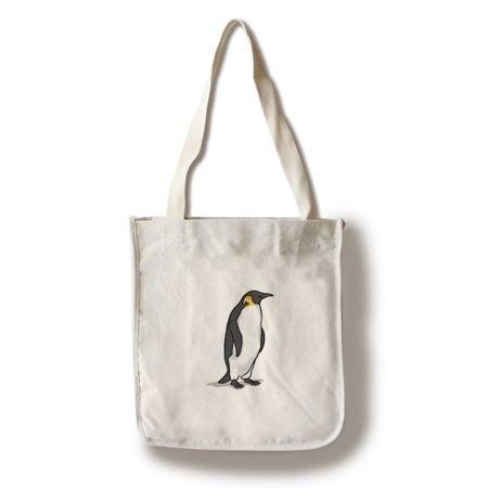 Emperor Penguin - Icon - Lantern Press Artwork (100% Cotton Tote Bag - Reusable)
