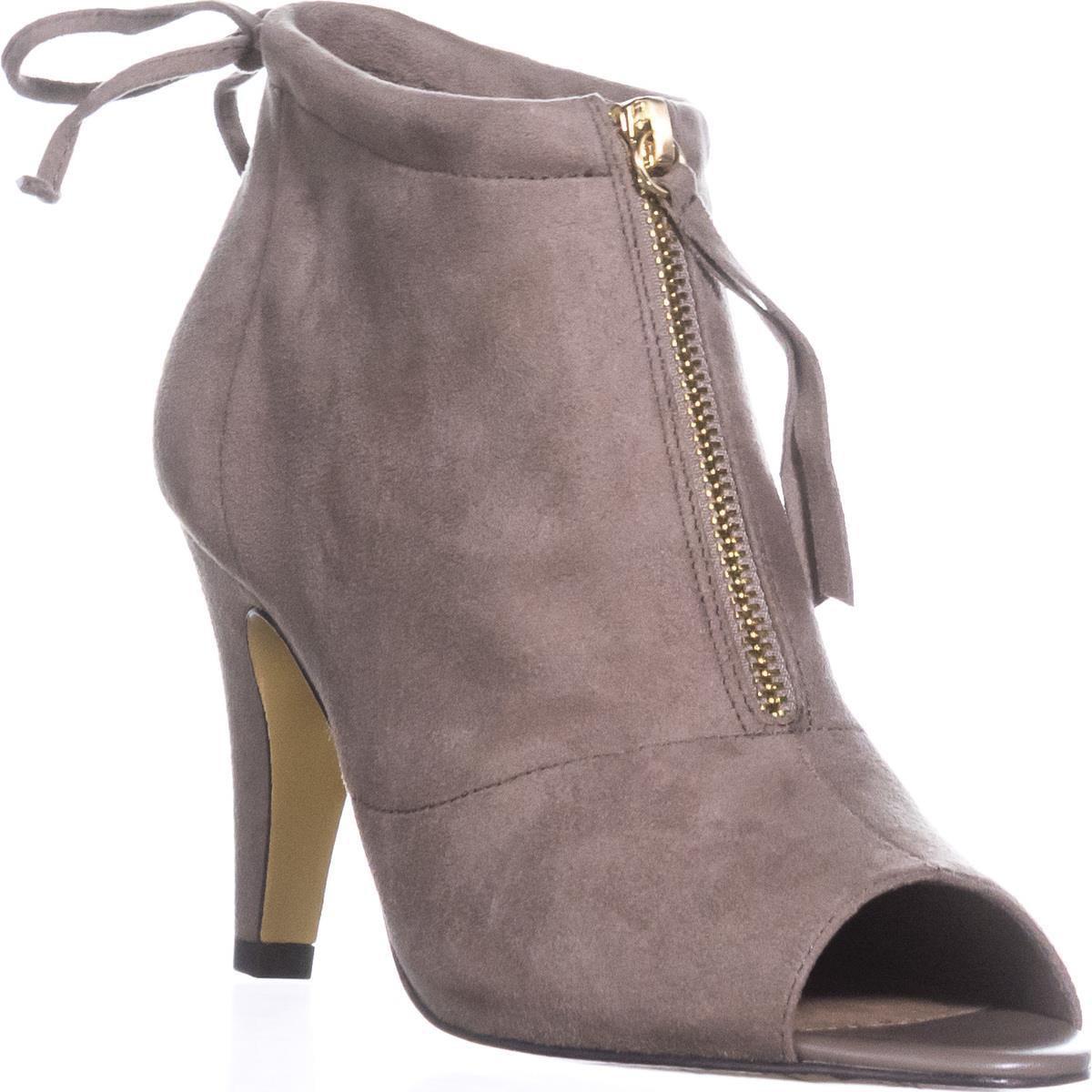 Womens Bella Vita Nicky II Peep-Toe Ankle Boots, Stone by Bella Vita