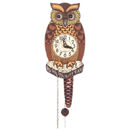 Alexander Taron Forest Owl Wall Clock by Alexander Taron