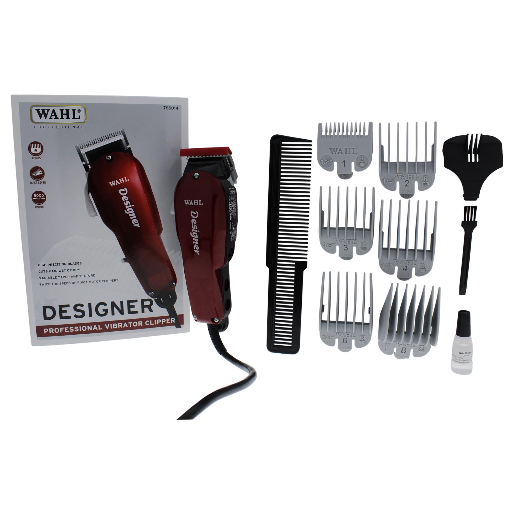 WAHL Professional Designer Professional Vibrator Clipper - Model # 8355-400 - Red - 1 Pc Clipper