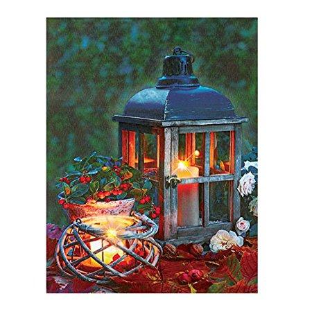 led lighted lantern print canvas wall art. Black Bedroom Furniture Sets. Home Design Ideas