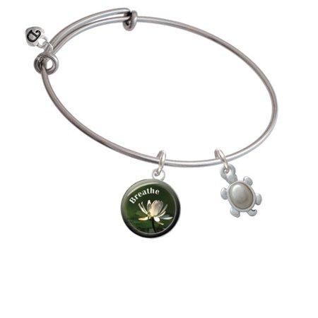 (Turtle with Imitation Pearl Shell Breath Bangle Bracelet)