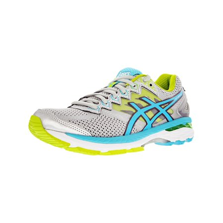 Asics Women's Gt-2000 4 Silver/Turquoise/Lime Punch Ankle-High Tennis Shoe -