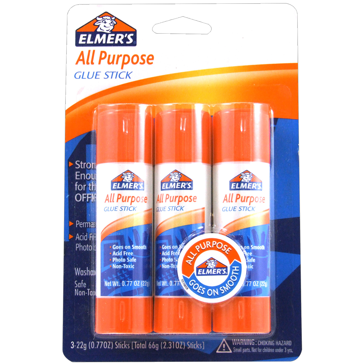 Elmer's All-Purpose Glue Sticks 3/Pkg-.77oz