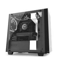 NZXT H400 - MicroATX PC Gaming Case - Tempered Glass - Enhanced Cable Management - Water Cooling Ready - White/Black